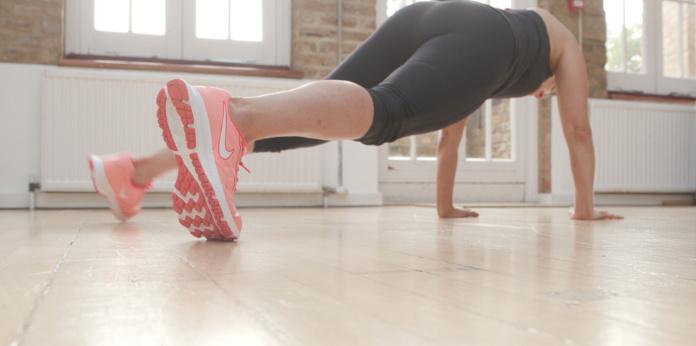 Anxiety exercises leg sweep