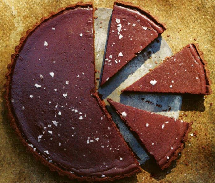 Salted caramel pumpkin tart (Andrew Montgomery/PA)