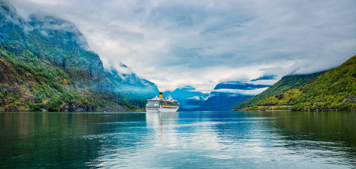 A cruise ship on Norway's fjords (iStock/PA)