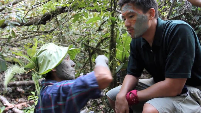 G Adventures founder Bruce Poon Tip taking part in an Amazon cleansing ritual (G Adventures/PA)
