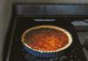 Diana Henry's crab, tomato & saffron tart (Laura Edwards/PA)