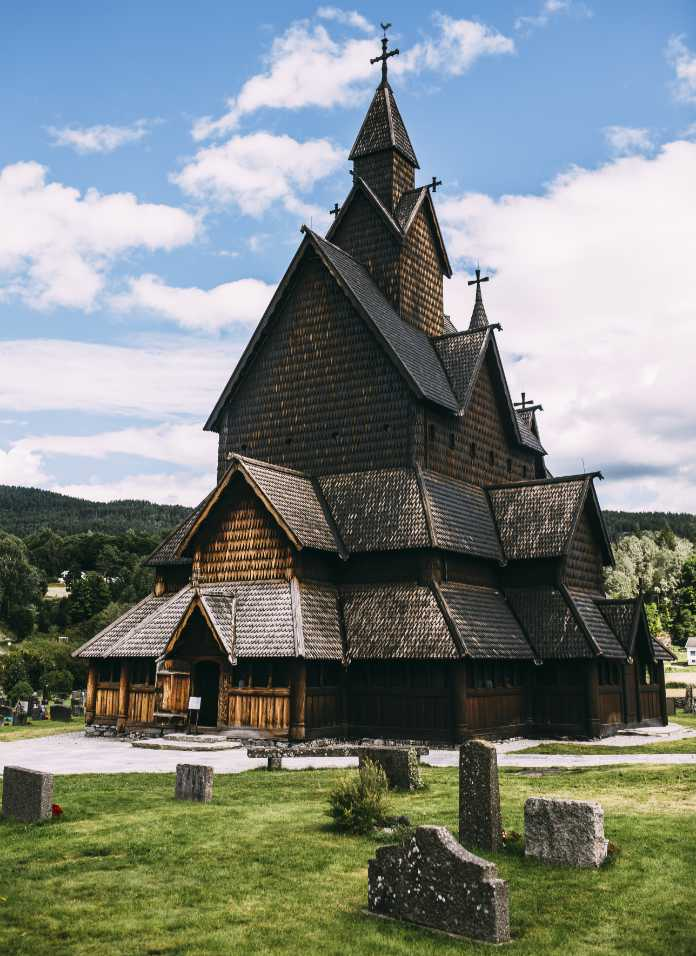 Borgund Stave Church in Lærdalen, Norway