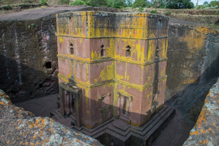 Church of St. George (Biete Ghirogis) in Lalibela.