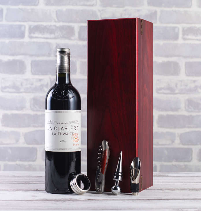 Father's Day alcohol gifts - Château La Clarière and Accessories Gift Set