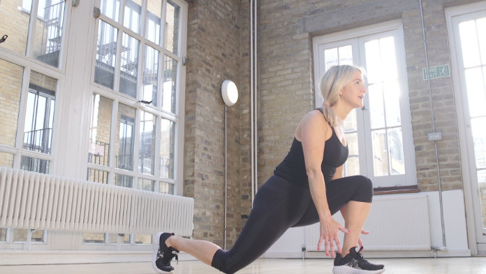 Kick-butt lunge Laura Williams