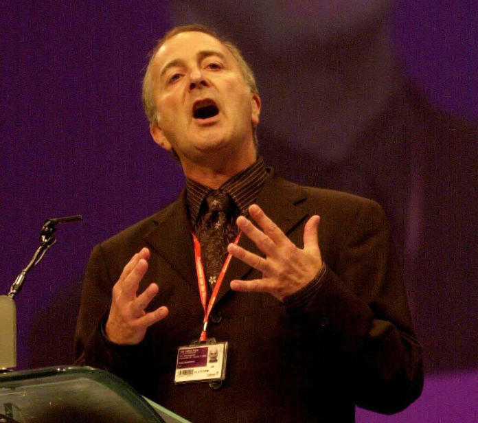 Addressing the Labour Party conference in 2003 (Ian Nicholson/PA)