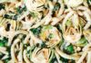 Pasta with artichokes, cavelo nero, parmesan (Peter Cassidy/PA)