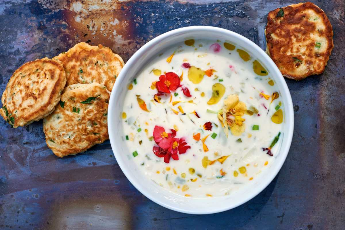 How To Make James Martin S Crab And Corn Soup With Fritters