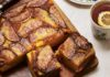 Curd cake with caramelised apples (Joe Woodhouse/PA)