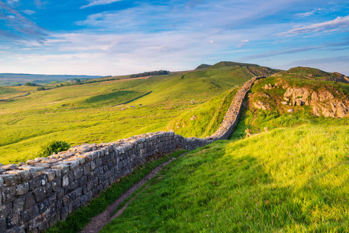 Hadrian's Wall is a World Heritage Site in the beautiful