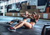 Sporty women in gym