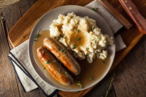 Homemade Bangers and Mash with Herbs and Gravy (Thinkstock/PA)
