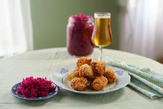 Rachel Khoo's Potato Nuggets and Pink Krout from Rachel Khoo's Simple Pleasures