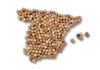 Map of Spain made out of wine corks (iStock/PA)