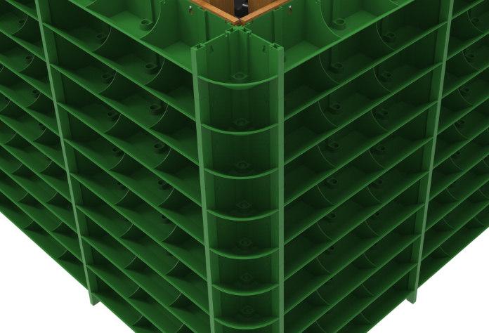 Raised drainage holes help (GreenWall/PA)