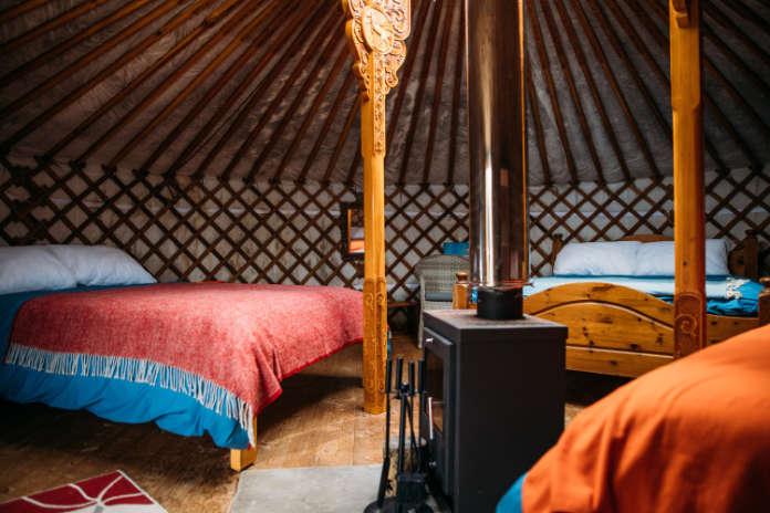 Yurt Interior at Fir Hill Estate (Fir Hill Estate/PA)