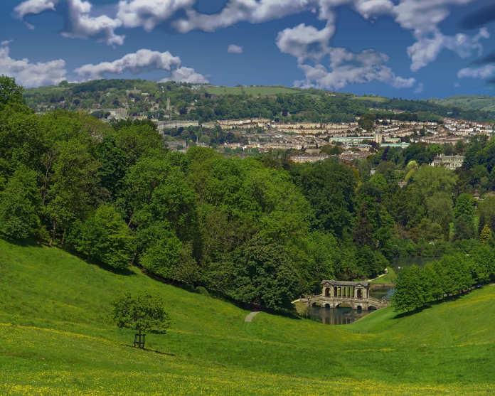 View of Prior Park - Bath, England.