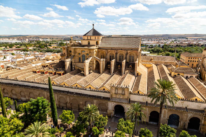 View of Mezquita, Catedral de Cordoba, from the Bell tower