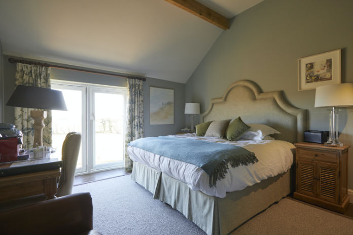 Bedrooms in the Walnut House at the Duncombe Arms