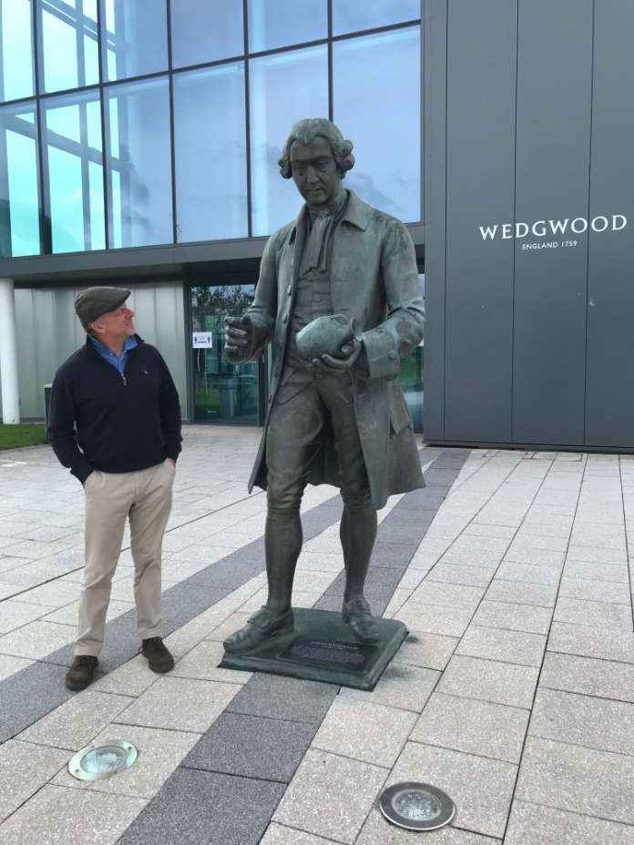 Statue of Josiah Wedgwood, at the World of Wedgwood