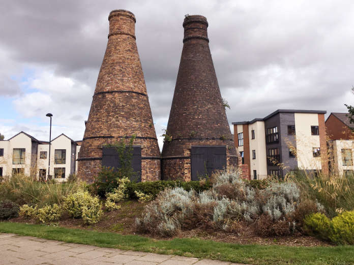 Two listed conical kilns