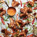 BBQ pork ribs and chicken wings (David Loftus/PA)