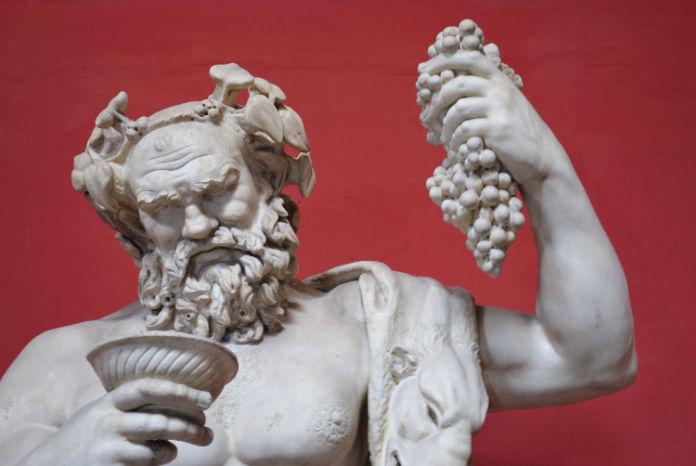 Wine history bacchus statue