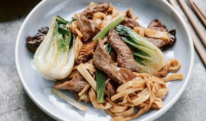 Wok-Fried Noodles with Beef and Pak Choi (India Hobson/PA)