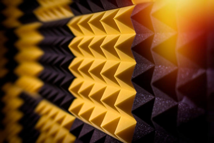 Acoustic foam for soundproofing