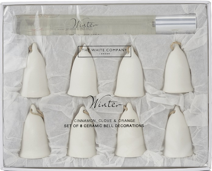 Christmas scents options such as ceramic bells