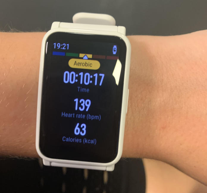 Honor Watch ES review - heart rate tracking