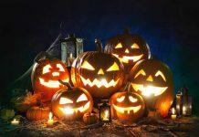 Group of Halloween Jack O' lantern
