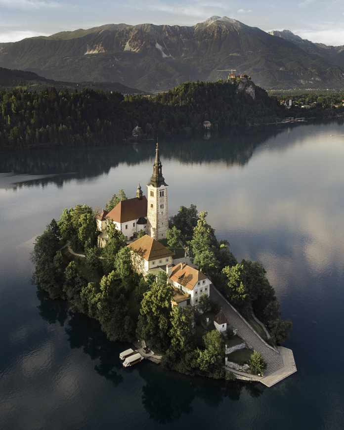 Island Church in Bled Slovenia