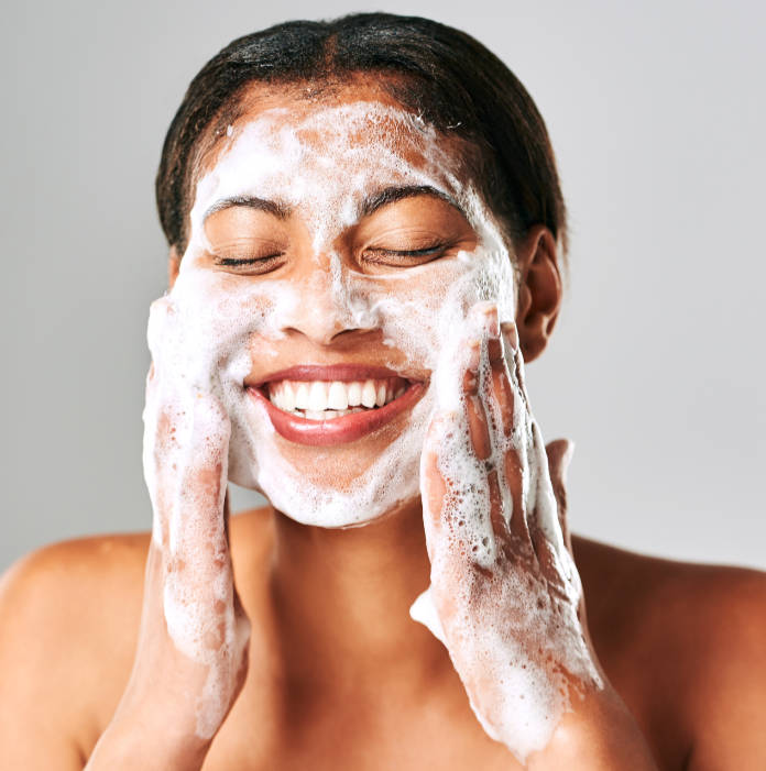 Wash your face thoroughly