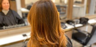 how to dye brown hair red