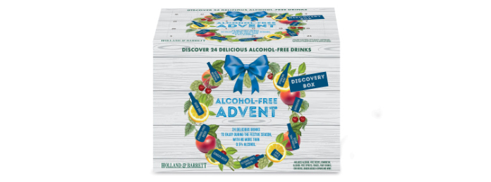 Holland & Barrett's Alcohol Free Drinks Advent Discovery Box