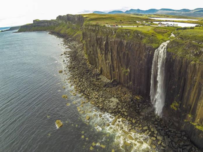 Kilt Rock waterfall in the Isle of Skye