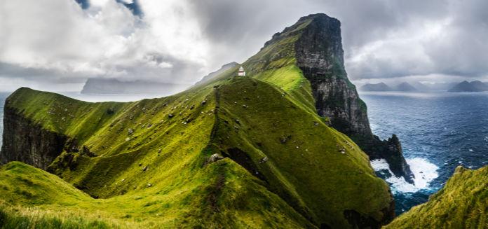 Panoramic view on Kallur, Faroe Islands