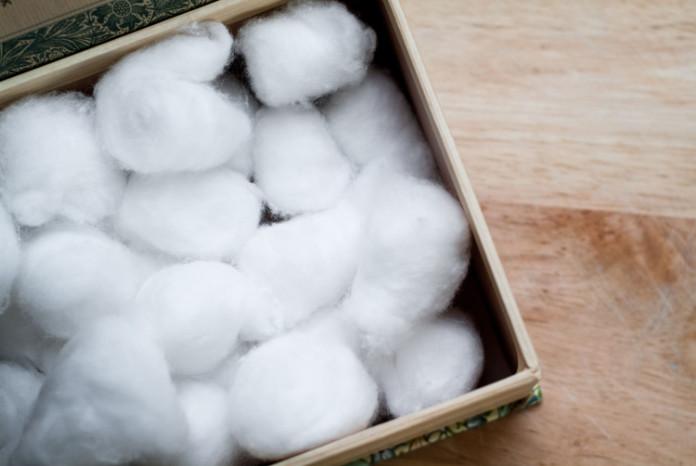 Blocked toilet cotton wool