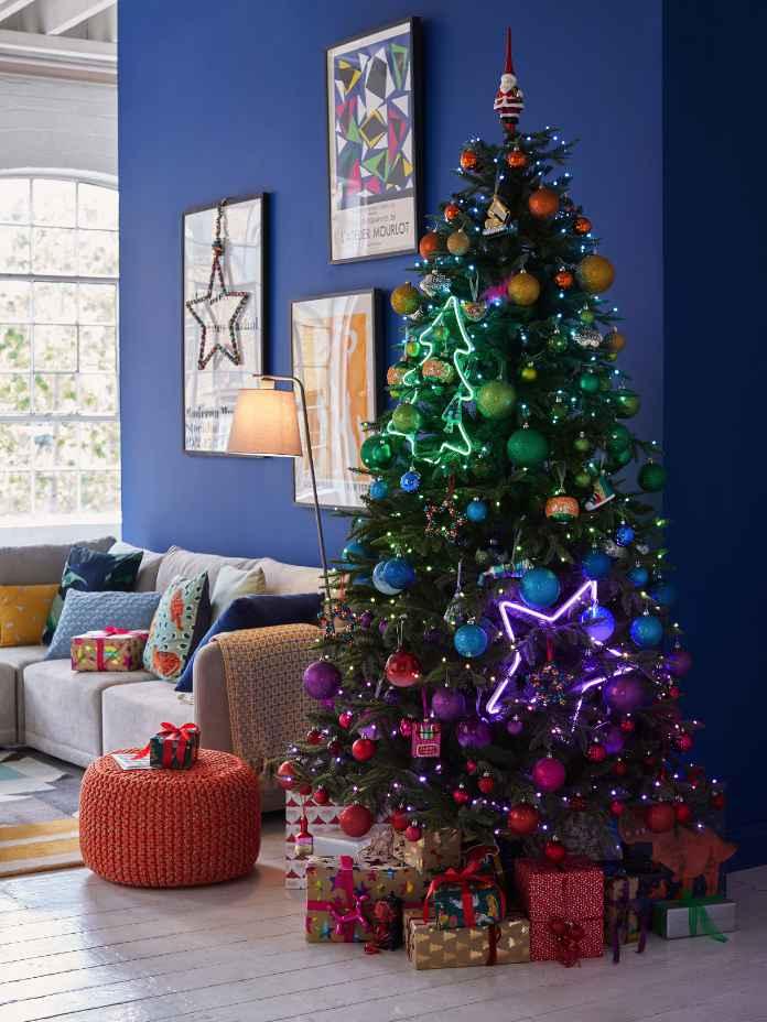 Twinkly Rainbow Pre-Lit Christmas Tree