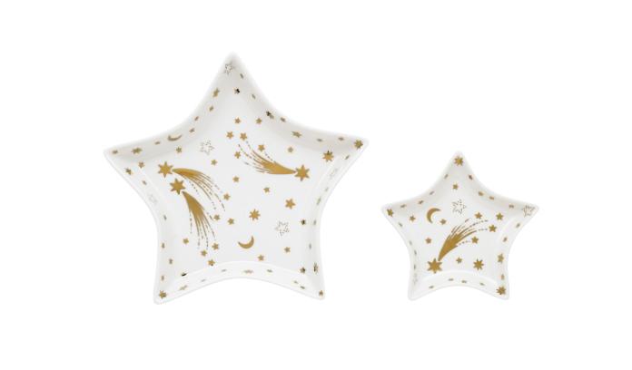 Gold Stars & Moon Print Star Bowls