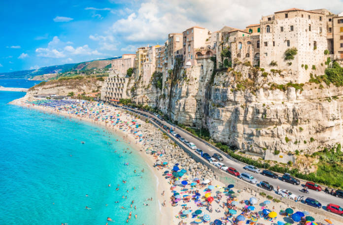 Italian cities Tropea, Calabria