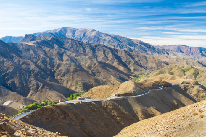 Atlas Mountains roads