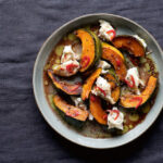 Roast pumpkin with mozzarella and chilli (Dora Kazmierak/PA)