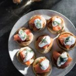 Buckwheat blinis from The Little Library Christmas by Kate Young