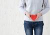 Woman having heart shape on lower stocmach