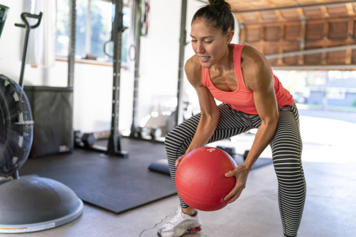Convert a garage into a home gym