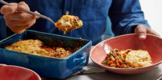 Curried veggie cottage pie