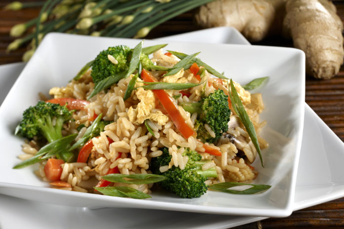 Health brown rice dish
