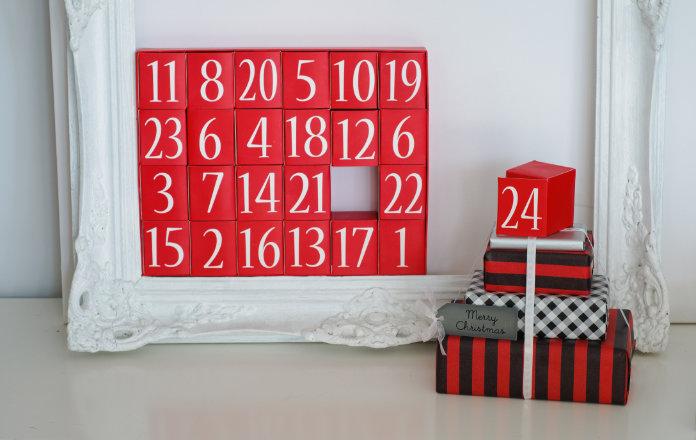 Advent Calendar and Christmas Presents Christmas Eve